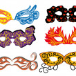 Set of vector carnival masks — Stock Vector #8464885
