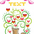 Stock Vector: Bunch of hearts in a boot