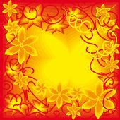 красивая цветочная рамка — Cтоковый вектор