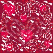 Ilustracja z miłości serce streszczenie — Wektor stockowy