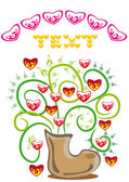 Bunch of hearts in a boot — Stock Vector