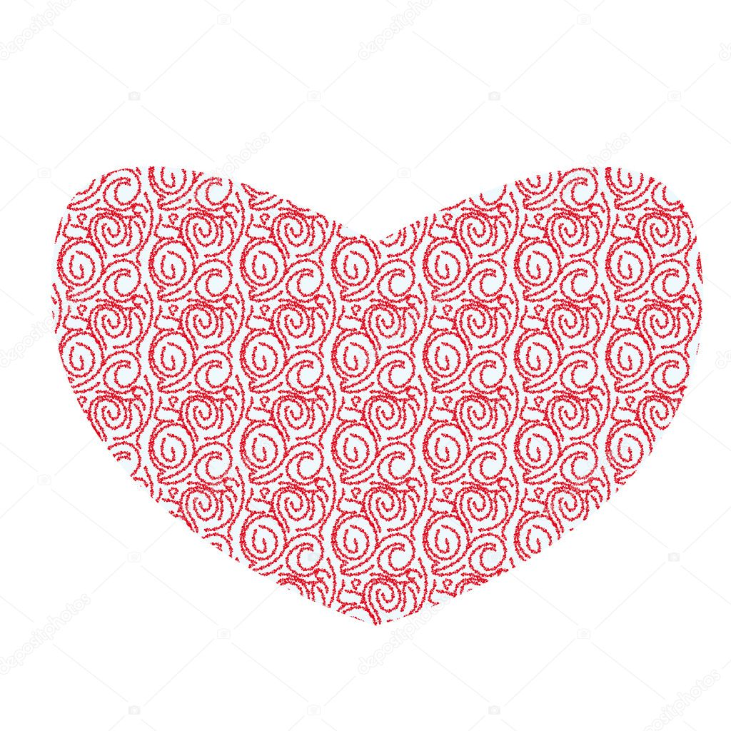 Illustration with love abstract heart — Stock Vector #8549045