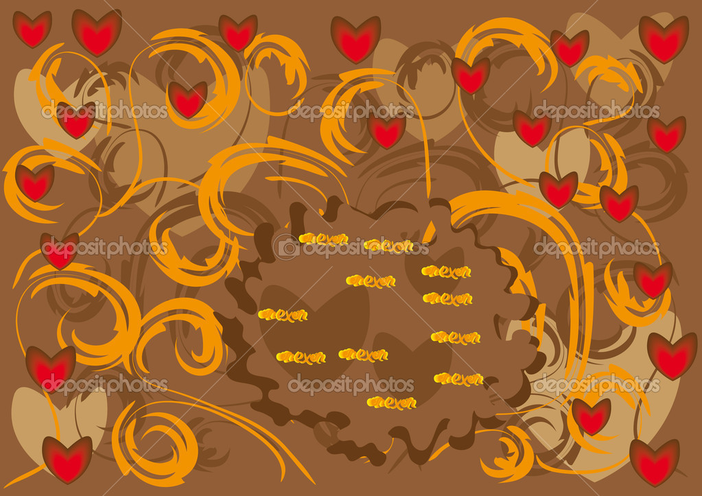 Abstract love background. Vector illustration  Stock Vector #8549079