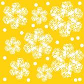 シームレスな花を持つ — ストックベクタ