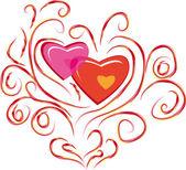 Astratto isolato amore filiale — Vettoriale Stock