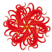 Abstract isolated vector flower — Vettoriale Stock