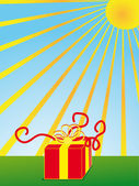 Gift box — Stockvektor