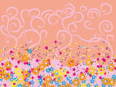 Abstrato com estrelas coloridas — Vetorial Stock