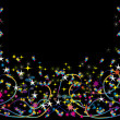 Abstract background with colorful stars - Stok Vektör