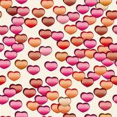 Vector patroon met hart — Vector de stock