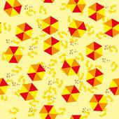Seamless structure with multi-colored beach umbrellas — Stock Vector