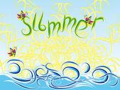 Alegre abstact suave del verano — Vector de stock