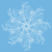 Abstract isolated vector flower — Cтоковый вектор