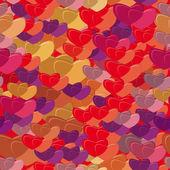 Padrão de vetor com corações — Vetorial Stock