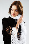 Gorgeous model in cape — Stock Photo