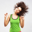 Lovely young woman having fun with shaking her hair — Stock Photo #9673469