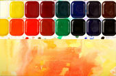Watercolor paints — 图库照片
