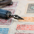 Old pen and letter — Stock Photo #9353137