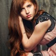 Sensual beautiful redheaded girl — Stock Photo