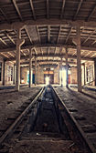 Inside an abandoned depot — Stock Photo
