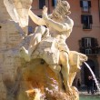 Piazza Navona, Rome fountain of four rivers - Stock Photo