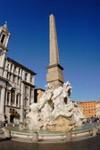 Piazza Navona, Rome fountain of four rivers — Stock Photo