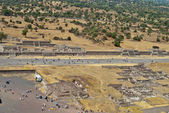 Avenue of the Dead in the city of Teotihuacan in Mexico — Stock Photo