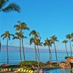 A hotel beach in Maui Hawai — Stock Photo #8393848
