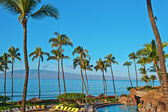 A hotel beach in Maui Hawai — Stock Photo