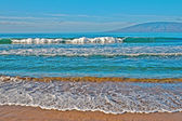 Beach, ocean, and waves — Stock Photo