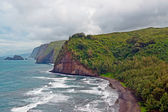 Polulu Valley beach on Big Island in Hawaii — Stock Photo