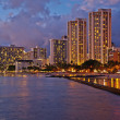 Waikiki Beach, Oahu Island Hawaii, cityscape — Stock Photo