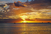 A sunset on Hawaii — Stock Photo
