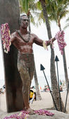 Statue of Duke Kahanamoku Waikiki, Oahu Island Hawaii — Stock Photo