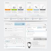 Elementos de navegación de plantilla de diseño de sitio web — Vector de stock