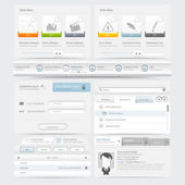 Web site design template navigation elements — Vector de stock