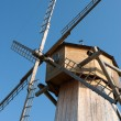 Old wooden windmill details - Stock Photo