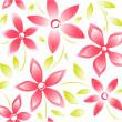 Seamless pink floral background — Stock Vector