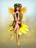 Fay amarillo margarita — Foto de Stock