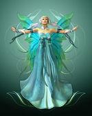 绿松石魔法 — 图库照片