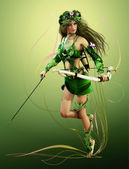 Elven Hunter — Stock Photo