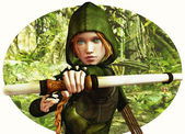 Forest Hunter — Stock Photo