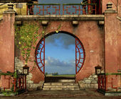 The Round Gate — Stock Photo