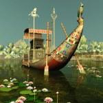 Egyptian Barge — Stock Photo #8615873