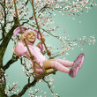 Easter on the Swing — Stock Photo