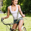 Girl and bicycle — Stock Photo #10545036