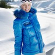 Stockfoto: Young beautiful snowboarder