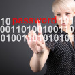 Password protection - technolody security concept — Foto Stock