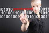 Password protection - technolody security concept — Stock Photo