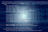 Source code technology background, editable vector — Stok fotoğraf